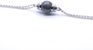 Jadeite Atelier Eden Bracelet In Black Jade With White Finish