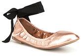 Aldo Phay Metallic Ankle Tie Ballerina Flats