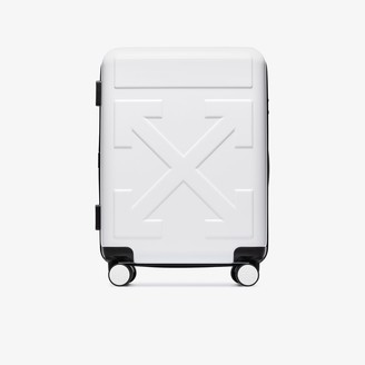 Off-White white Quote carry-on suitcase