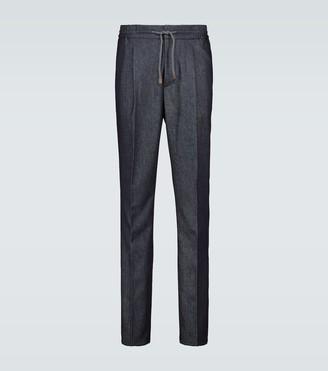 Brunello Cucinelli Wool drawstring pants