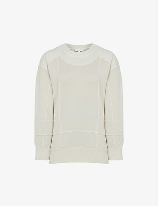Reiss Anais cotton-blend jersey sweatshirt