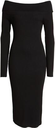 AFRM Eloise Off the Shoulder Long Sleeve Sweater Dress