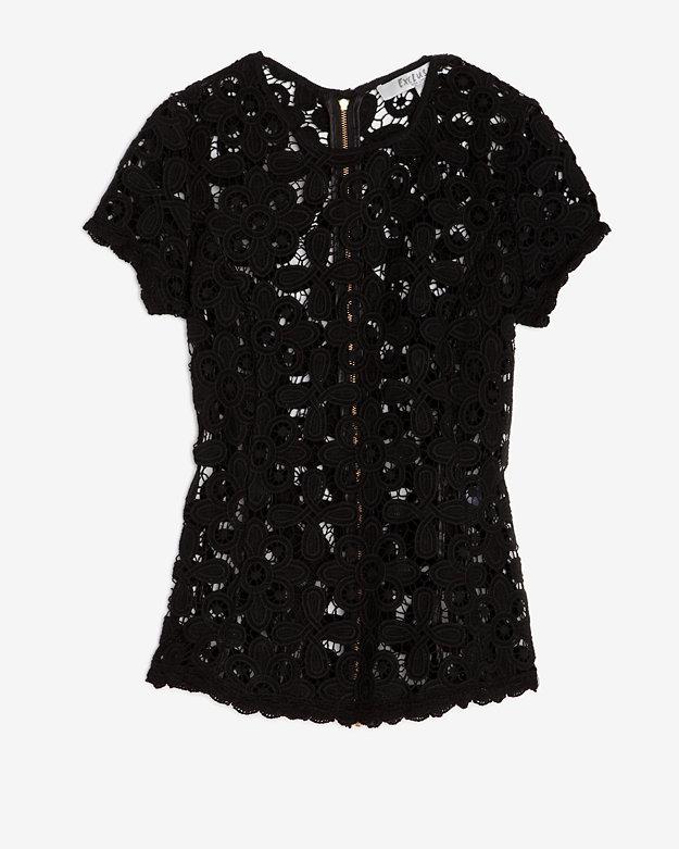 Intermix Exclusive For Exclusive Floral Lace Zipper Top