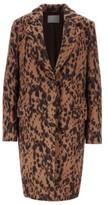 HUGO BOSS - Regular Fit Blazer Style Coat In Animal Jacquard - Patterned