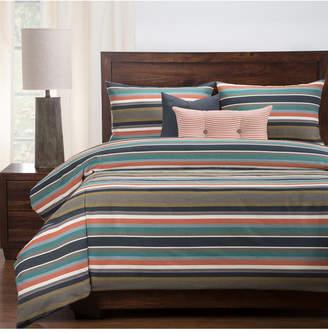 Everlast Revolution Plus Preppy Stain Resistant 6 Piece Cal King High End Duvet Set Bedding