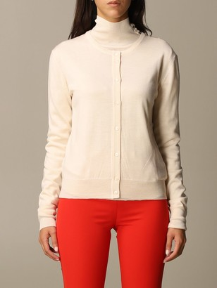 Patrizia Pepe Basic Cardigan With Buttons