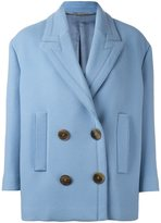 Alexander McQueen double breasted peacoat - women - Cupro/Virgin Wool - 36