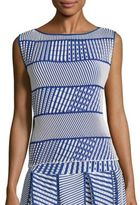 Issey Miyake Striped Patterned Top
