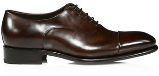 Santoni Isaac Cap-Toe Leather Oxford Shoes