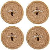 Joanna Buchanan S/4 Beaded Bee Coasters