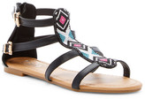 Tiara Ayala Beaded Gladiator Sandal