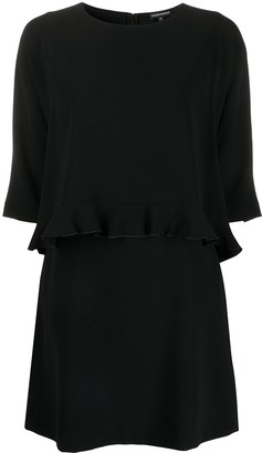 Emporio Armani Ruffled Shift Dress