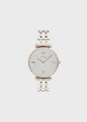 Emporio Armani Two-Hand Two-Tone Stainless Steel Watch