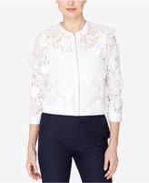Catherine Malandrino Misha Floral-Lace Moto Jacket