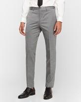 Express Slim Gray Wool Blend Oxford Suit Pant