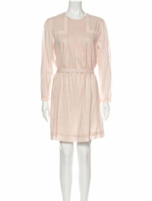 Burberry Crew Neck Mini Dress w/ Tags Pink