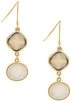 Cole Haan To the Moon Onyx & Druzy Double-Drop Earrings