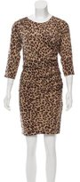 Sea Leopard Print Silk Dress