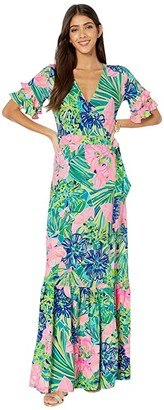 Lilly Pulitzer Emmerson Maxi Dress (Multi Island Escape) Women's Clothing