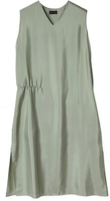 Oyuna Miko Woven Luxury Green Mist Silk Dress