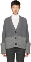 Moncler Grey V-neck Cardigan