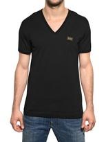 Dolce & Gabbana Light Jersey V Neck T-Shirt