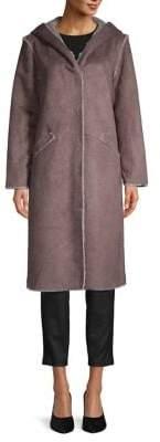 Philosophy di Lorenzo Serafini Faux Fur Lined Soft Walker Coat