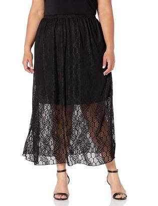 Star Vixen Women's Plus-Size Maxiskirt with Shorter Lining