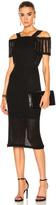 Roland Mouret Sinclair Linen Mesh Dress