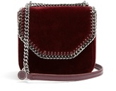 Stella McCartney Falabella Box mini velvet cross-body bag