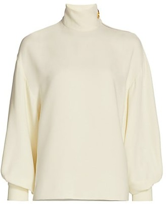 St. John Silk Georgette Blouse