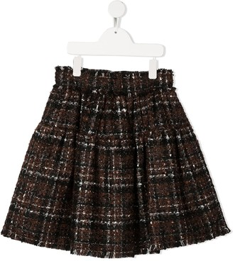 Dolce & Gabbana Kids Check Flared Skirt