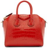 Givenchy Red Croc Mini Antigona Bag