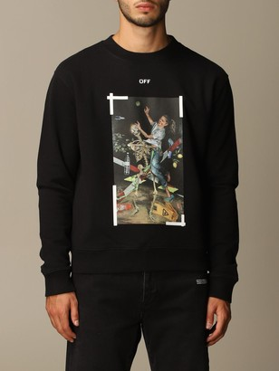 Off-White Off White Cotton Sweatshirt With Big Rear Arrows