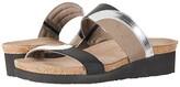 Naot Footwear Frankie (Silver Mirror Leather/Gloss Black Stretch/Khaki Patina Elastic) Women's Shoes