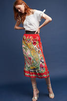 Anna Sui Land Of Sunshine Silk Midi Skirt