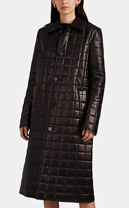 Bottega Veneta Women's Quilted Leather Down Coat - Black