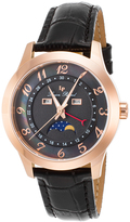 Lucien Piccard Black & Brown Mother-of-Pearl Artista Leather-Strap Watch - Women