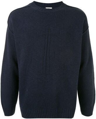 Kent & Curwen Embroidered Long-Sleeve Jumper