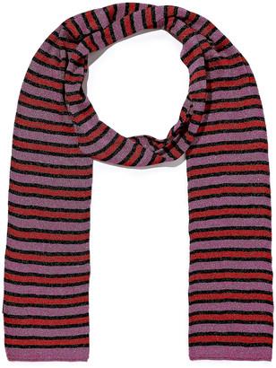 Missoni Metallic Striped Crochet-knit Scarf