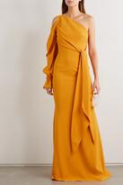 Roland Mouret - Santorini One-sleeve Asymmetric Crepe Gown - Yellow