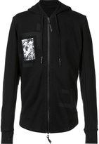 11 By Boris Bidjan Saberi panel detail zip hoodie