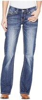 Rock and Roll Cowgirl Riding Bootcut in Medium Wash W7-1393 Women's Jeans