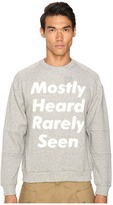 Mostly Heard Rarely Seen Disappearing Text Sweatshirt Men's Sweatshirt