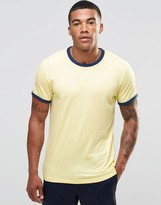 Abercrombie & Fitch Ringer T-shirt Yellow In Muscle Slim Fit