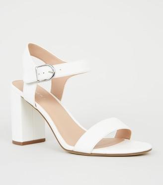 New Look Leather-Look 2 Part Block Heels