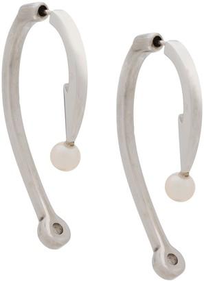 Alan Crocetti Curved Pearl Earrings