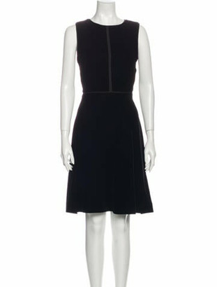 Valentino Crew Neck Midi Length Dress Black
