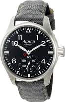 Alpina Men's AL-280B4S6 Startimer Pilot Big Date Analog Display Swiss Quartz Watch