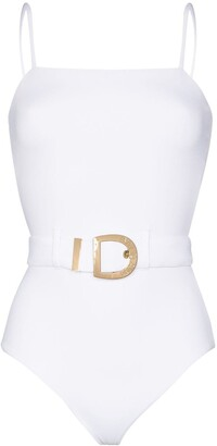Balmain Belted Buckle Swimsuit